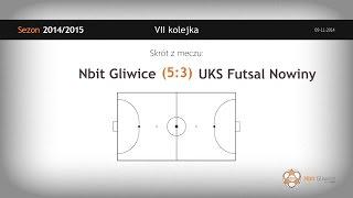 Nbit Gliwice – UKS Ekom Futsal Nowiny (7 kolejka) - skrót