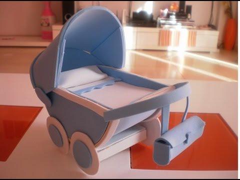 Como hacer un carrito de bebe de goma eva