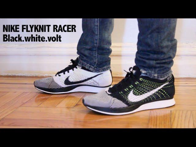 Nike Flyknit Racers On Feet New Kentucky Blue And White Jordans ... 3835b123f