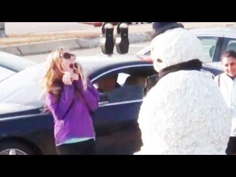 Funny - Girls Freak Out - Snowman Prank Season 2 Episode 10