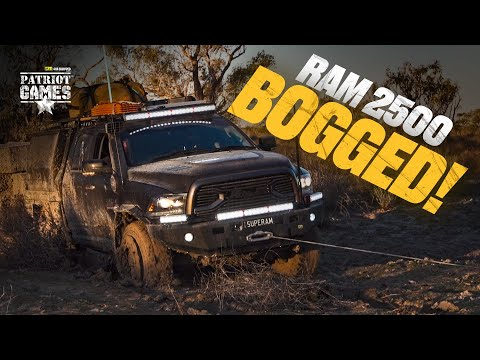 RAM Trucks Bogged In Mud In The Simpson Desert • Patriot Games Season 3 • Episode 8