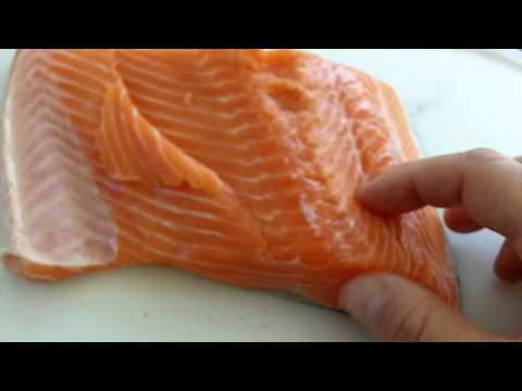 Remove Bones from Salmon Fillets with Needle-nose Pliers