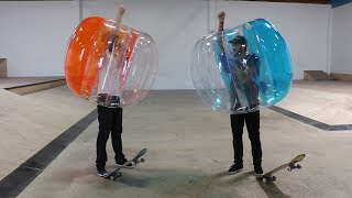 Today Braille plays a game of skate using the Bubble Ball as well as fights some battles mano a mano in them. Some people get rocked, a victor is crowned and everyone has fun in this hilarious video. For more Stupid Skate episodes click here: https://www.youtube.com/playlist?list=PLjpsoptsN4KAuszZ9ce3A-d7Wjp4Gp3AxSkate with us!  Come to skate camp and our skate night! Tickets:https://www.brailleskateboarding.com/shop/http://www.brailleskateboarding.com/how-to-skateboard/YOU CAN LEARN TO SKATEBOARD! CLICK ABOVE TO GET THE MOST DETAILED HOW TO SKATEBOARD LESSON PLAN EVER MADE!  SKATEBOARDING MADE SIMPLE!Big thanks to Gabe Cruz for his help in editing this video: http://www.youtube.com/braillearmyThanks to Fetty for skating: http://www.youtube.com/fettypotterGET SKATEBOARDING MADE SIMPLE ON iBOOKS! https://itunes.apple.com/us/artist/aaron-kyro/id733499725?mt=11GET SKATEBOARDING MADE SIMPLE ON GOOGLE PLAY https://play.google.com/store/books/details/Aaron_Kyro_Skateboarding_Made_Simple_Vol_1?id=8BEbBQAAQBAJSkateboarding Made Simple on Amazon: https://www.amazon.com/Skateboarding-Made-Simple-Braille-Aaron/dp/B01LYPOIVP/ref=sr_1_1?ie=UTF8&qid=1482278130&sr=8-1&keywords=skateboarding+made+simpleFOLLOW ON SOCIAL MEDIAINSTAGRAM https://instagram.com/brailleskate/FACEBOOK: http://www.facebook.com/BrailleSkateboardingGOOGLE +: https://plus.google.com/107594784940938640430TWITTER: http://twitter.com/#!/BrailleSkateFor general inquiries email contact@brailleskateboarding.comFor business, brand or media inquiries please email jen@brailleskateboarding.comCHECK OUT OUR WEBSITE FOR ALL THE LATEST BRAILLE NEWS AND UPDATES!!! http://www.brailleskateboarding.comTHUMBS UP FOR MORE VIDEOS!PLAYLISTS LINKS FOR MOBILE USERSlearn to skate: http://www.youtube.com/playlist?list=PL34F060CE1BA3E968SKATE SUPPORThttp://www.youtube.com/playlist?list=PL2E1C0A94C6B6CEBB&feature=view_allCLIPPEDhttp://www.youtube.com/playlist?list=PLjpsoptsN4KCS-4mngnS8xM4ZXwpn60NQ&feature=view_allslow motionhttp://www.