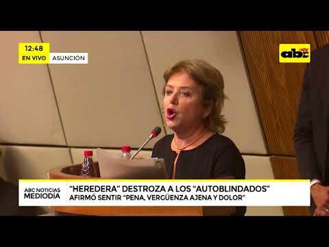Ana Brun destroza a parlamentarios