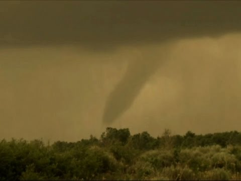 Raw: Funnel Cloud Spotted in NW Oklahoma