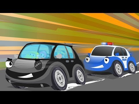 Police Chase Thief Car | Kids Cartoon Songs & Rhymes