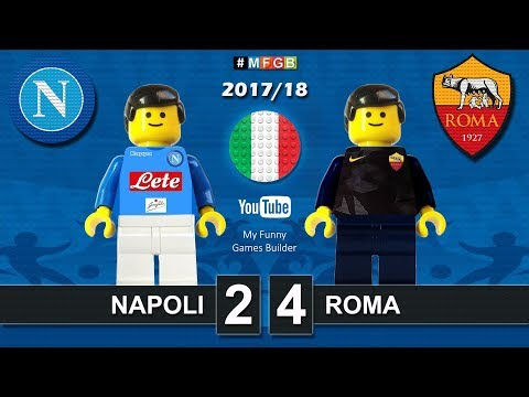 Napoli Roma 2-4 • Serie A (03/03/2018) goal highlights sintesi Lego Calcio 2017/18