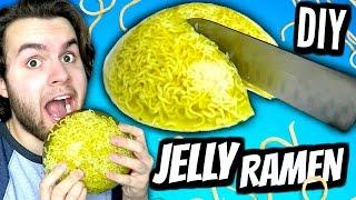 DIY Jelly Ramen! | How To Make A Giant Gummy Jello Ramen Noodle Soup Tutorial!