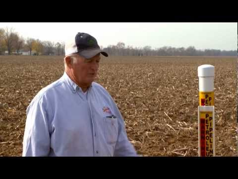 testimonial - A farmer shares his first-hand experience of encountering a petroleum pipeline while installing field tile.