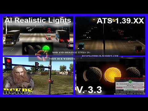 AI Realistic lights v1.2 for ATS 1.36.x