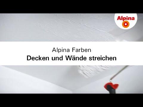 Alpina Farben - Decken und Wände richtig streichen