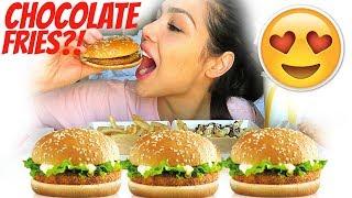 KOREAN MC DONALD'S MENU 먹방 MUKBANG 신메뉴 STORY TIME | SHRIMP BURGER, BULGOGI BURGER | EATING SHOW