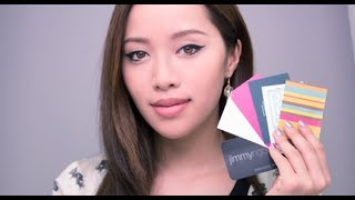 Using Business Cards for Makeup - YouTube