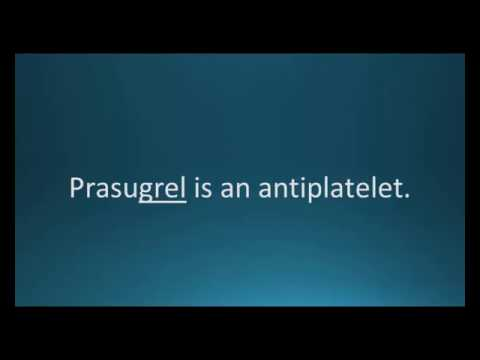 How to pronounce prasugrel (Effient) (Memorizing Pharmacology Flashcard)