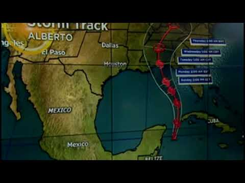 Florida and Mississippi Declare 'State of Emergency' As Storm Alberto Approaches