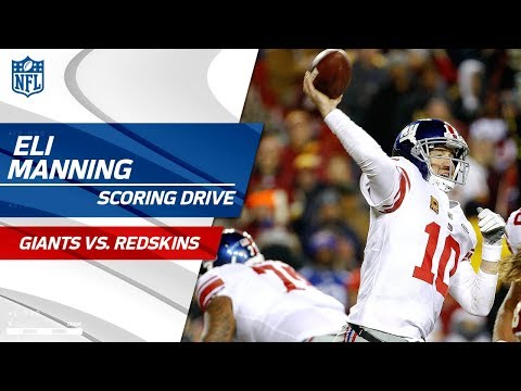 Video: Eli Manning Leads His Team Downfield for a FG vs. Washington!   Giants vs. Redskins   NFL Wk 12