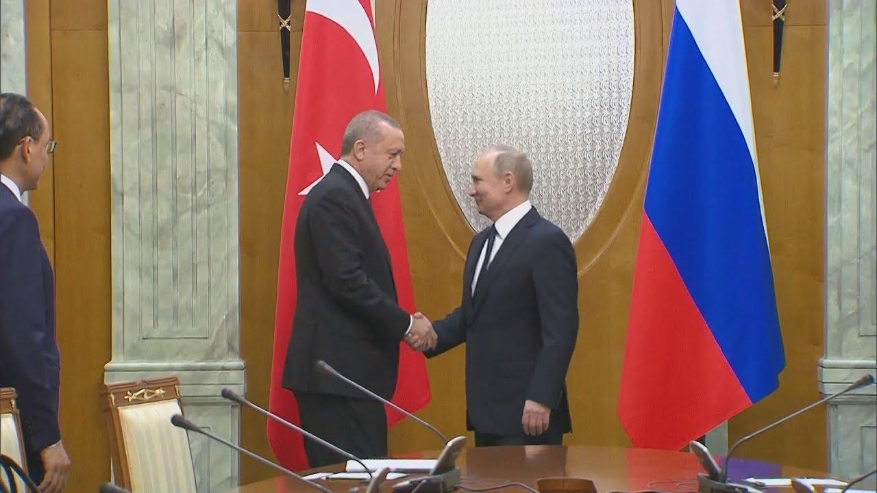 Συνάντηση Πούτιν- Eρντογάν στο Σότσι