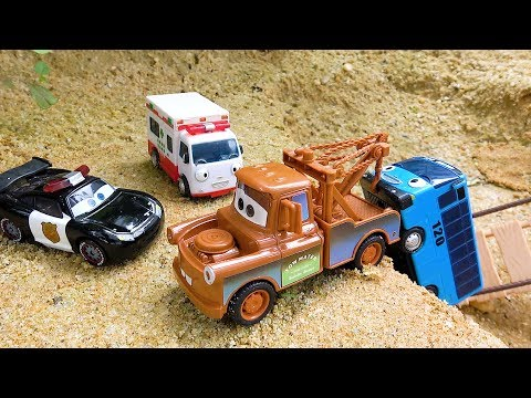 Mater Cars Rescue Tayo Bus. Police Car, Ambulance Toys for Children