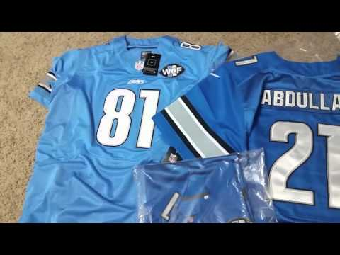 Mary Jersey, Ameer Abdullah, Calvin Johnson, and Matthew Stafford Jerseys review