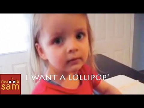 Baby girl on phone – I Want A Lollipop! :)