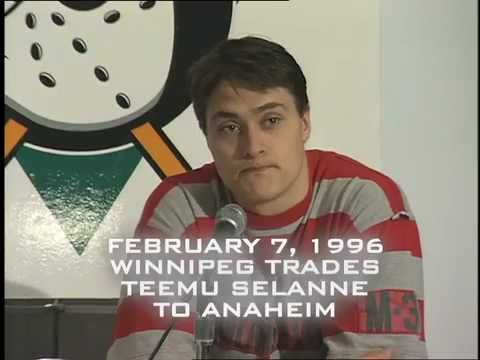 Wild Wingers Kids Club - Teemu Selanne gets traded to Ducks - Feb 7, 1996