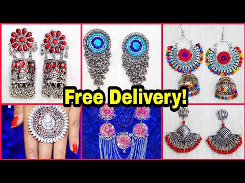 Cheapest Oxidised Jewellery Online Insta Store ||Trendy Junk Jewellery Online || Free Delivery