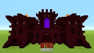 Minecraft How To Build A Small Castle | Tutorial | Nether Castle / Fort! 2016 / 2017