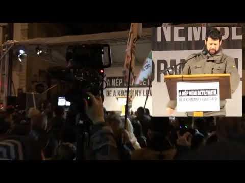 Puzsér mindenkit kiosztott a Jobbik tüntetésén