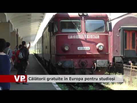 Călătorii gratuite în Europa pentru studioși