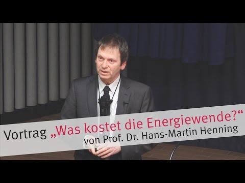 """Vortrag """"Was kostet die Energiewende?"""" von Prof. Dr. Henning"""