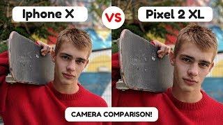 iPhone X Camera Vs Google Pixel XL 2 | Camera Test Review | Camera Comparison | Portrait Mode 2017!