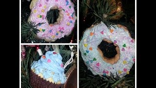 🎄DIY Cupcake & Donut Christmas Ornaments⛄🎁 - YouTube