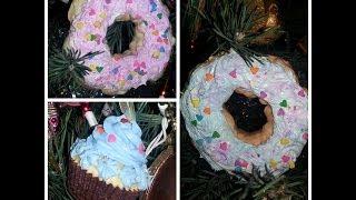 🎄DIY Cupcake & Donut Christmas Ornaments⛄🎁 - YouTube