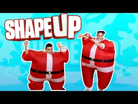 wife - A husband and wife challenge each other in different games! Today we play Shape Up with our Santa Chub Suits!! Who do you think will WIN?! What should we play next?! Thanks for watching!...