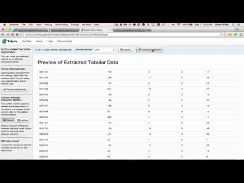 Using Tabula for Extracting Data from PDFs