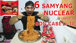 Video OMG!! | MUKBANG 6 Packs SAMYANG DOUBLE SPICY Ekstra BON CABE Lv 30 MP3, 3GP, MP4, WEBM, AVI, FLV September 2018