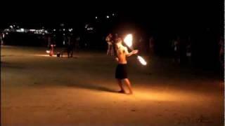 Fire Show At Koh Samet Island, Thailand