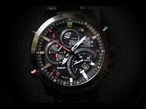 EDIFICE EQB-500DC-1A | Обзор и настройка (на русском) | Купить со скидкой (видео)