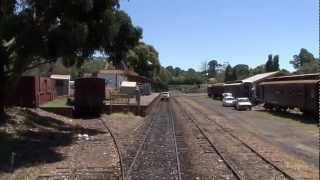 Castlemaine Australia  city pictures gallery : Australian Trains: VGR Maldon to Castlemaine from Tambo - Australia Day 2011