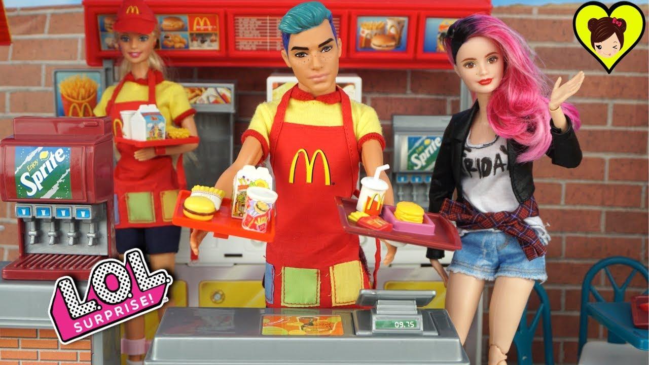 Boi Lol Barbie Punk Con Surprise En Adolescente Trabaja Mc Donalds fgYb76yv