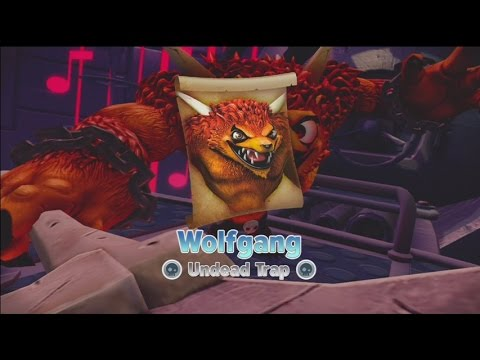 Wolfgang - The fight against the evil, rock-and-roll ruler of Skylands in the 10000 timeline in Skylanders: Trap Team.