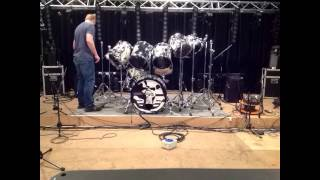 "MOONCHILD ""Iron Maiden tribute band"" Signature drum kit Nicko McBrain."
