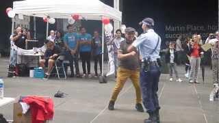 Amazing Policewoman Joins Street Dancing
