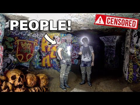 Dangerous Explore inside the Paris Catacombs (OUR STORY) *SHOCKING*   Roadtrip France S01E02