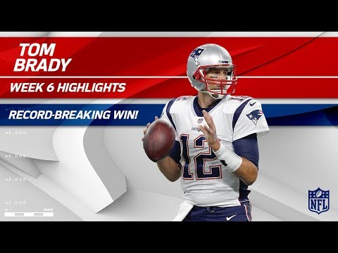 Video: Tom Brady Breaks Record for All-Time Regular Season Wins! | Pats vs. Jets | Wk 6 Player Highlights