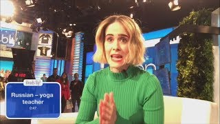 Digital Exclusive: Sarah Paulson Gets a Scare During 'Heads Up!'