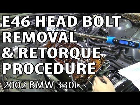BMW E46 Torque Head Bolts & Remove Cylinder Head #m54rebuild 11