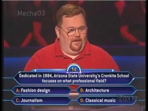 The most epic Who Wants to be A Millionaire contestant ever.