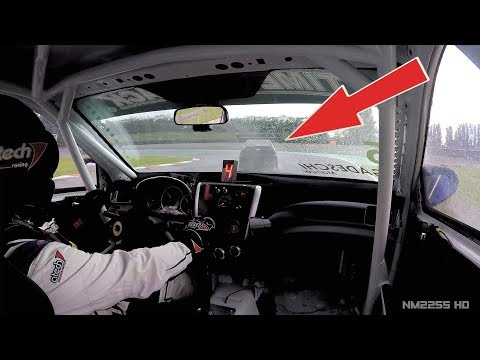 Subaru WRX STi Sedan TIME ATTACK Beast OnBoard In The Rain With Amazing SOUND!