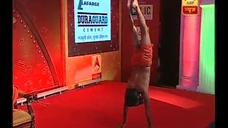 Jan Man Dhan Conclave: Watch Baba Ramdev perform Yoga on ABP News full download video download mp3 download music download